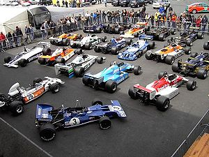 Oldtimer Festival - 1995 Historic Formula One Championship in the parc fermé