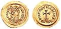 Tiberius II Constantine Tremissis.png