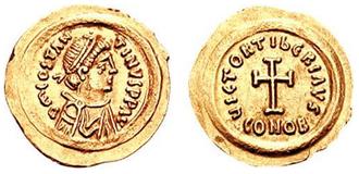 Tiberius II Constantine - Tremissis of Emperor Tiberius II Constantine