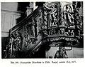 Tilsit, Evangelische Pfarrkirche, Kanzel, unterer Teil, 1677, Bildhauer Joh. Pfeffer (zugeschrieben).jpg