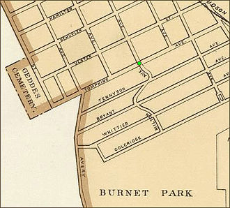 Tipperary Hill - Map of Tipperary Hill neighborhood, Syracuse, New York, 1895