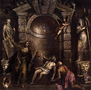Pietà (Titian) - Image: Titian Pietà WGA22851