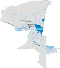 Mapa hidrológico de Tláhuac