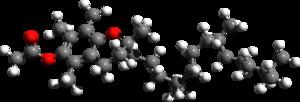 Tocopheryl acetate - Image: Tocopheryl acetate 3d structure