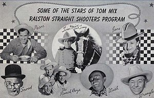 Tom Mix - Postcard sent in response to an entry for a radio program contest in 1941