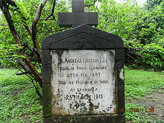 St. Xavier's College, Mumbai - Tombstone Tablet of Founders