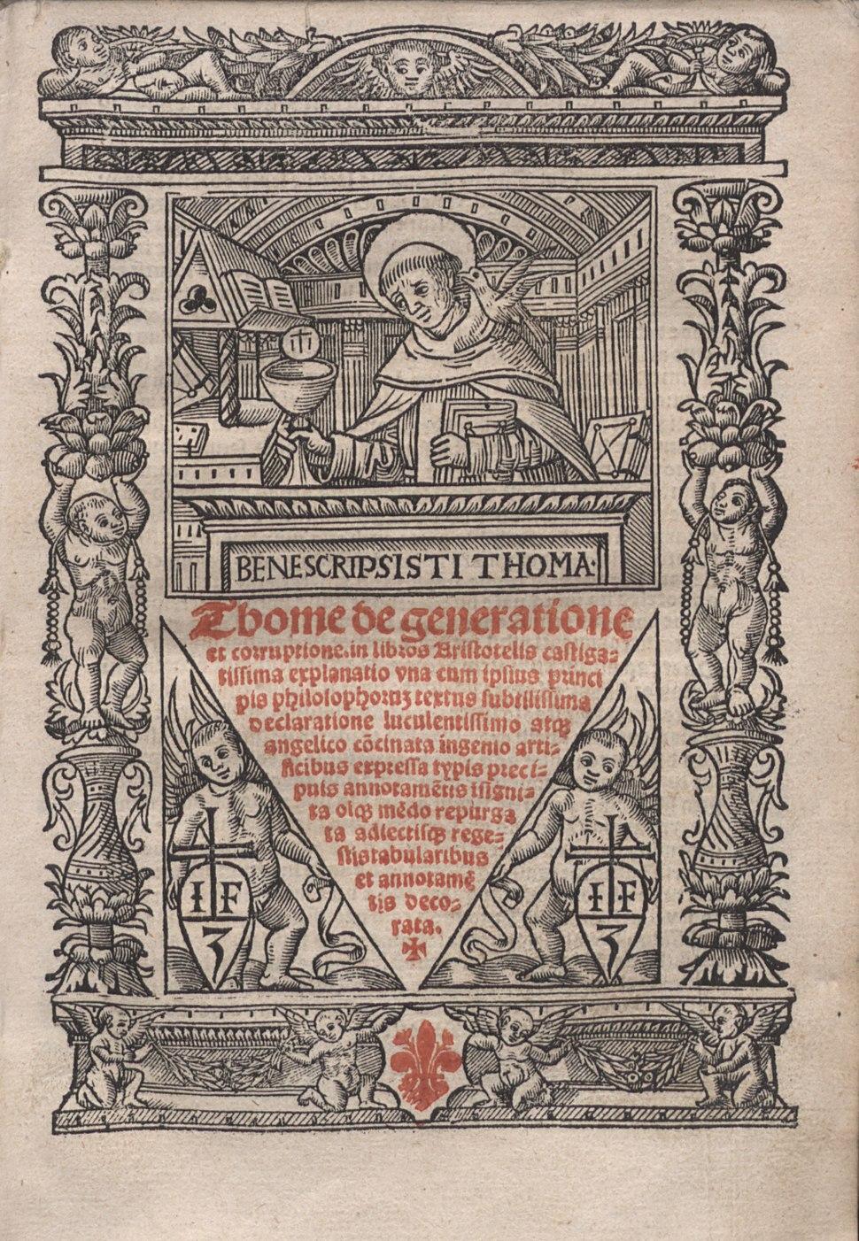 Tommaso - Super libros de generatione et corruptione - 4733257 00007