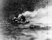 Torpedoed Japanese destroyer Harusame off Wewak on 24 January 1943