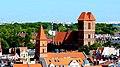 Toruń - Rynek Nowomiejski, widok z wieży Ratusza ,widoczny kościół św. Jakuba - panoramio.jpg
