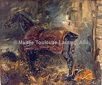 Toulouse-Lautrec - CHEVAL NOIR A L'ECURIE, 1882, MTL.86.jpg