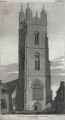 Tower of Caerdiff church, Glamorganshire