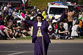 Town Crier, Judy Campbell, leading the SunRice Festival parade in Pine Ave (1).jpg