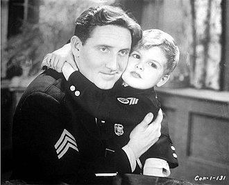 Disorderly Conduct (film) - Publicity still with Spencer Tracy and Dickie Moore.
