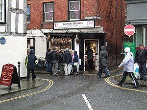 English: Traditional Butcher Shop Ludlow The b...