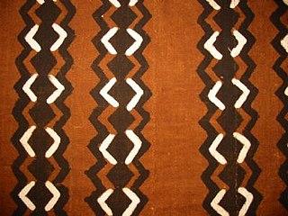 Bògòlanfini Malian dyed cotton fabric