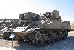Armoured recovery vehicle - A Trail Blazer, Yad La-Shiryon Museum, Israel