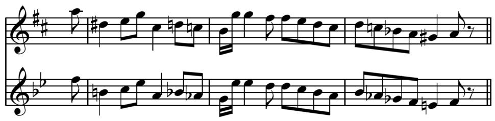 Transposition example from Koch