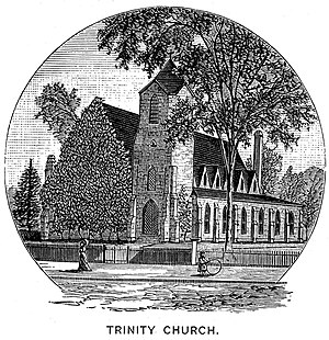 Trinity Church (Pawtucket, Rhode Island) - 1886 engraving