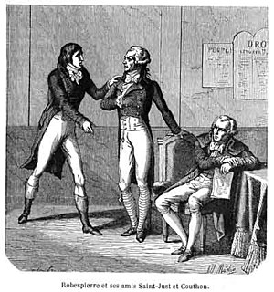 Triumvirate - Triumvirate of : (L-R) Saint-Just, Robespierre, and Couthon