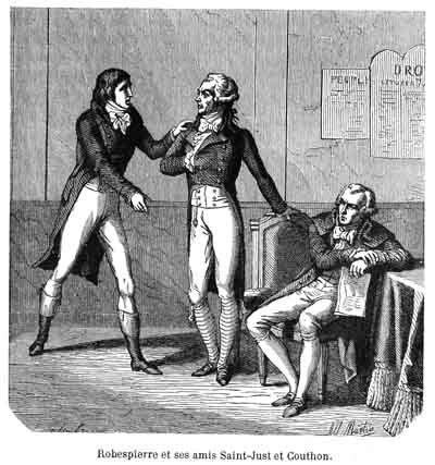 Triumvirate Robespierre Couthon Saint Just