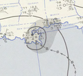 Tropical Storm Five analysis 27 Aug 1955.png