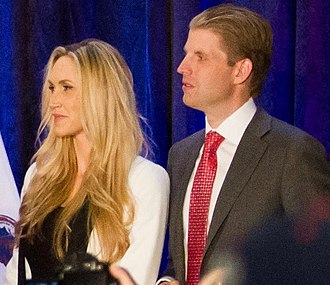 Eric Trump - Trump and his wife at a campaign event, February 2016