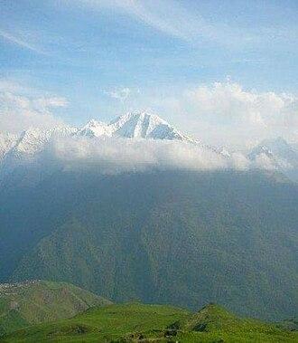 Itum-Kalinsky District - Mount Tebulosmta, the highest peak of the Eastern Caucasus Mountains, is located in Itum-Kalinsky District on the border with Georgia
