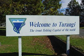 Turangi - Welcome sign