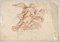 Two Angels Flying; verso- God the Father Seated in the Clouds and a Sketch of a Figure Flying MET DP831799.jpg