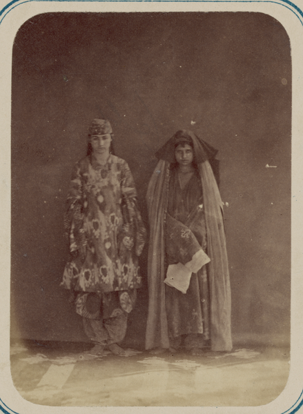 File:Two Women Wearing Different Styles of Traditional Dress WDL11190.png