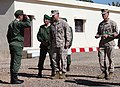 U.S. Marine Corps Brig. Gen. Charles G. Chiarotti, center, the deputy commander of Marine Forces Africa and Marine Forces Europe, and 1st Lt. Ben Baker, right, an assistant intelligence officer with the 24th 120413-M-FR139-021.jpg