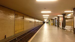 Britz-Süd (Berlin U-Bahn) - Platform of the station