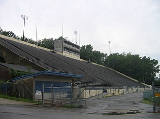 Connecticut Huskies football - UConn would be granted an attendance waiver by the NCAA in order to play its home games at Memorial Stadium in Storrs during the 2000–2002 seasons.
