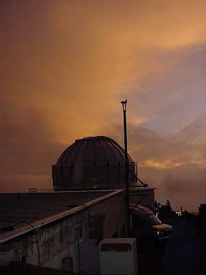 United Kingdom Infrared Telescope - UKIRT at sunset