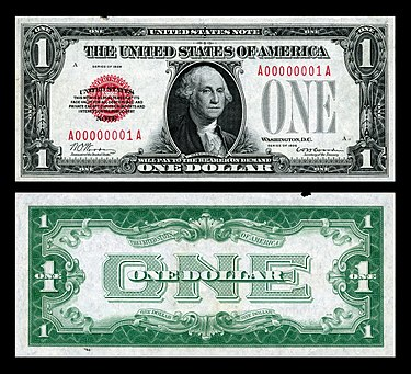 The first small-size $1 United States Banknote printed. US-$1-LT-1928-Fr.1500.jpg
