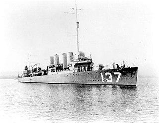 USS <i>Kilty</i> (DD-137) WWII US destroyer