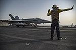 USS Dwight D. Eisenhower conducts flight operations. (28506546671).jpg