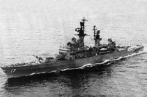 USS Harry E. Yarnell (DLG-17) underway at sea in 1967
