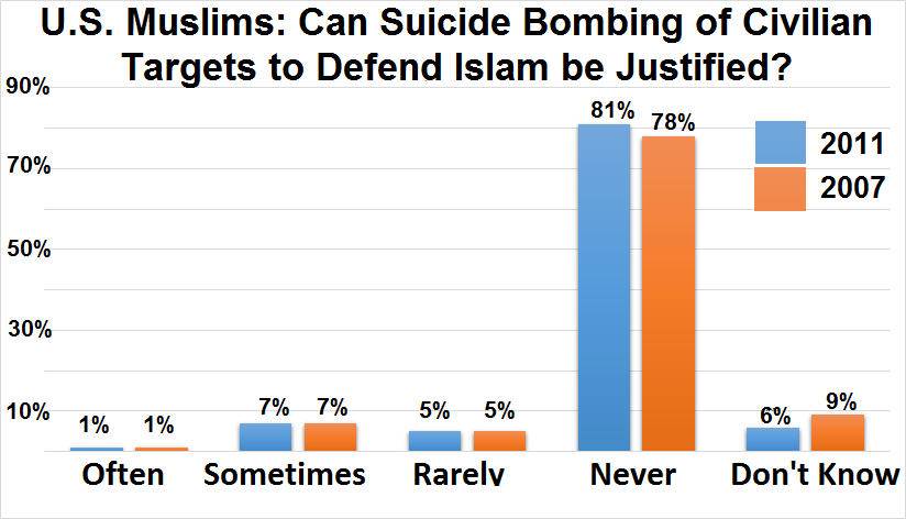 US Muslim opinions on suicide bombing (2011)