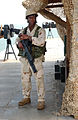 US Navy 050130-N-0401E-003 A Sailor assigned to Mobile Security Force Detachment Two Two (MSD-22) stands watch aboard Al Basrah Oil Terminal (ABOT).jpg