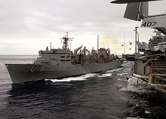 Fast combat support ship - The fast combat support ship USNS Arctic (T-AOE-8) conducting a replenishment at sea