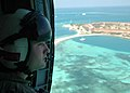 US Navy 050524-N-8683B-054 Aviation Machinist's Mate 2nd Class Christian Lyons Keeps an eye on the waters surrounding Fort Jefferson in the Dry Tortugas National Park off the southernmost tip of Florida.jpg