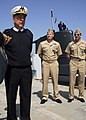 US Navy 070412-N-2858G-006 Vice Adm. Roberto Cesaretti, ITN, Commander, Allied Maritime Component Command Naples (left) speaks to the media about Noble Manta 07 in Augusta Bay, Sicily.jpg