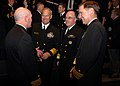US Navy 090107-N-7948R-050 Rear Adm. Joseph F. Kilkenny talks with Vice Adm. Jeffrey L. Fowler, Vice Adm. John C. Harvey and Vice Adm. Mark E. Ferguson III.jpg