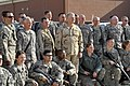 US Navy 100107-N-8273J-081 Chief of Naval Operations (CNO) Adm. Gary Roughead, center, poses for a photo with Sailors assigned to the International Security Assistance Force (ISAF) Joint Command.jpg