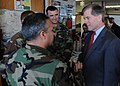 US Navy 100111-N-9095H-064 aster Chief Navy Diver Ross Garcia speaks with Virginia Governor-Elect Bob McDonnell at the USO of Hampton Roads at Joint Expeditionary Base Little Creek-Fort Story.jpg
