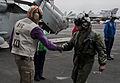 US Navy 101214-N-7981E-055 Vice Adm. Allen G. Myers meets Cmdr. Putnam H. Browne uring a visit to USS Carl Vinson (CVN 70).jpg