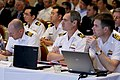 US Navy 110524-N-HW977-073 Naval officers from Australia and Japan listen during the 2011 International Standard Missile Users Group conference.jpg