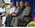 US Navy 110713-N-FC670-032 Adm. Gary Roughead, left, Gen. James F. Amos, Undersecretary of the Navy Robert O. Work and BJ Penn attend the Departmen.jpg