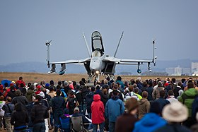 US Navy F-A-18 Super Hornet at Avalon Airshow in 2009.jpg